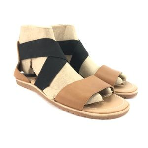 Sorel Womens Ella Cut Out Holiday Sandals Size 8